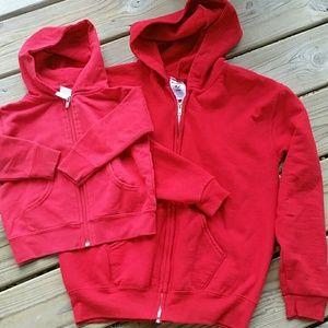 Mommy-  baby bundle of hoodies